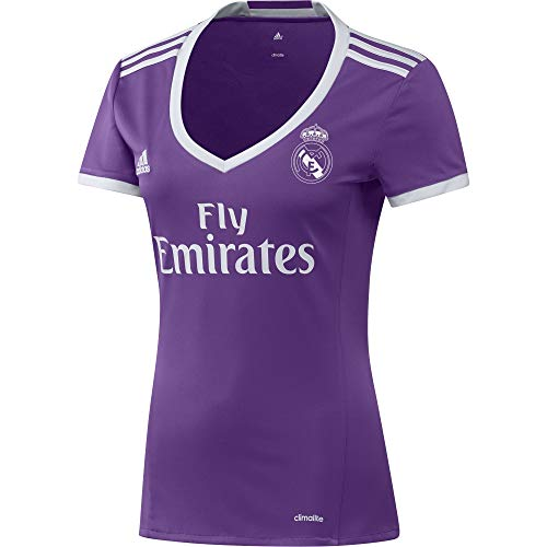 adidas JSY W Camiseta 2ª Equipación Real Madrid CF 2015/16, Mujer, Violeta/Blanco, M