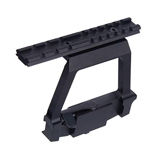 jkbfyt Heavy Duty Tactical Picatinny Side Rail Scope Mount Detach Rail Base for 20mm Weaver Scope