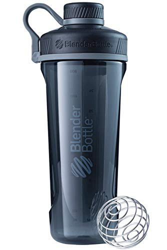 Radian Shaker per frullati di Proteine | Bottiglia per Acqua | Borraccia | con BlenderBall | 940ml - Nero