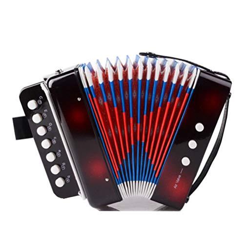 YeahiBaby - Giocattolo a fisarmonica per bambini, pianoforte, giocattolo educativo per fisarmonica Solo e set di strumenti (nero)