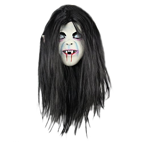 SOUTHSKY Cheveux Black Masque Halloween Biohazar Cosplay