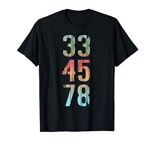 Camiseta de coleccionista de discos de regalo Vinyl Lover 33 Camiseta