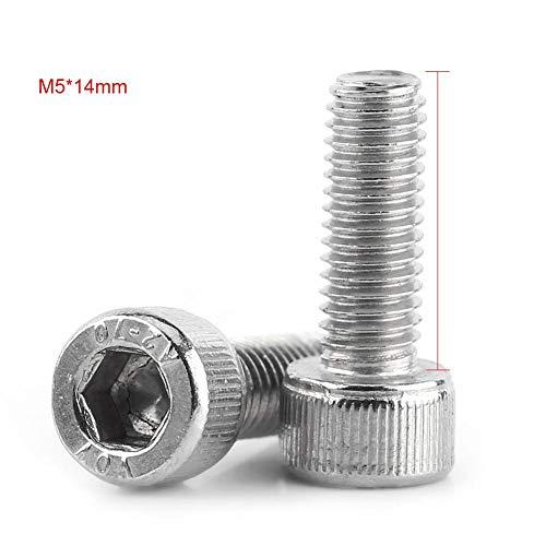 Simlug M3-M8 Stainless Steel SS304 Hex Socket Cap Head Screws with Hex Nut Washers Assortment M5 150PCS