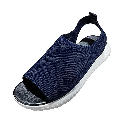 Sandales pour Femmes Confort Décontracté Plage D'été pour Femmes Sandales Sandales de Sport pour Femmes, Sandales de randonnée avec Soutien de la voûte Plantaire Chaussures d'eau légères en Plein air