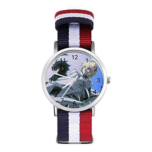 Reloj trenzado a escala con espejo de cristal y nicho, ajustable empalme correa trenzada de nailon adecuado para deportes interiores/actividades al aire libre, uso diario