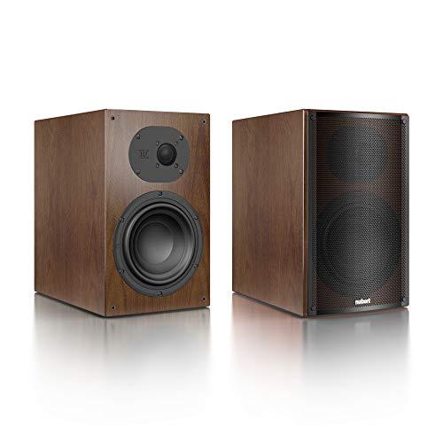 Nubert nuLine 34 Regallautsprecherpaar | Lautsprecher für Stereo | Heimkino & HiFi Qualität auf hohem Niveau | Passive Regalboxen mit 2 Wegen Made in Germany | Kompaktlautsprecher Nussbaum | 2 Stück