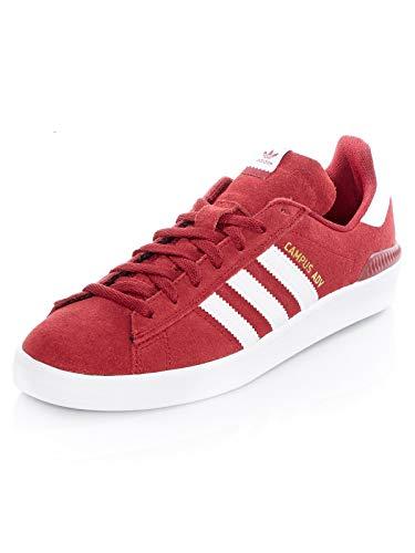 adidas Campus ADV, Scarpe da Skateboard Unisex-Adulto, Rosso (Buruni/Ftwbla/Ftwbla 0), 43 1/3 EU