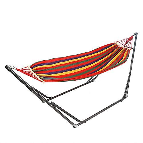 73HA73 Hamaca Camping Espesar Silla Oscilante Cama Colgante para Exteriores Silla Mecedora de Lona con Soporte para Hamaca,Red