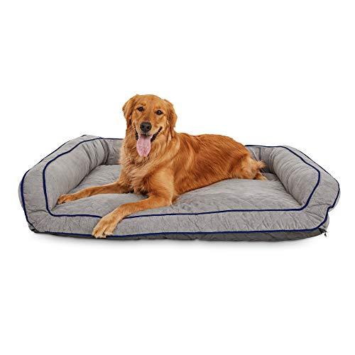 Petco Brand - Tranquil Sleeper Memory Foam Dog Bed, 48' L x 36' W, X-Large, Gray