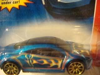 Hot Wheels Mitsubishi Eclipse, Blue - Gold Flamz & 10 Spoke Code Car Issue 2007 1/64