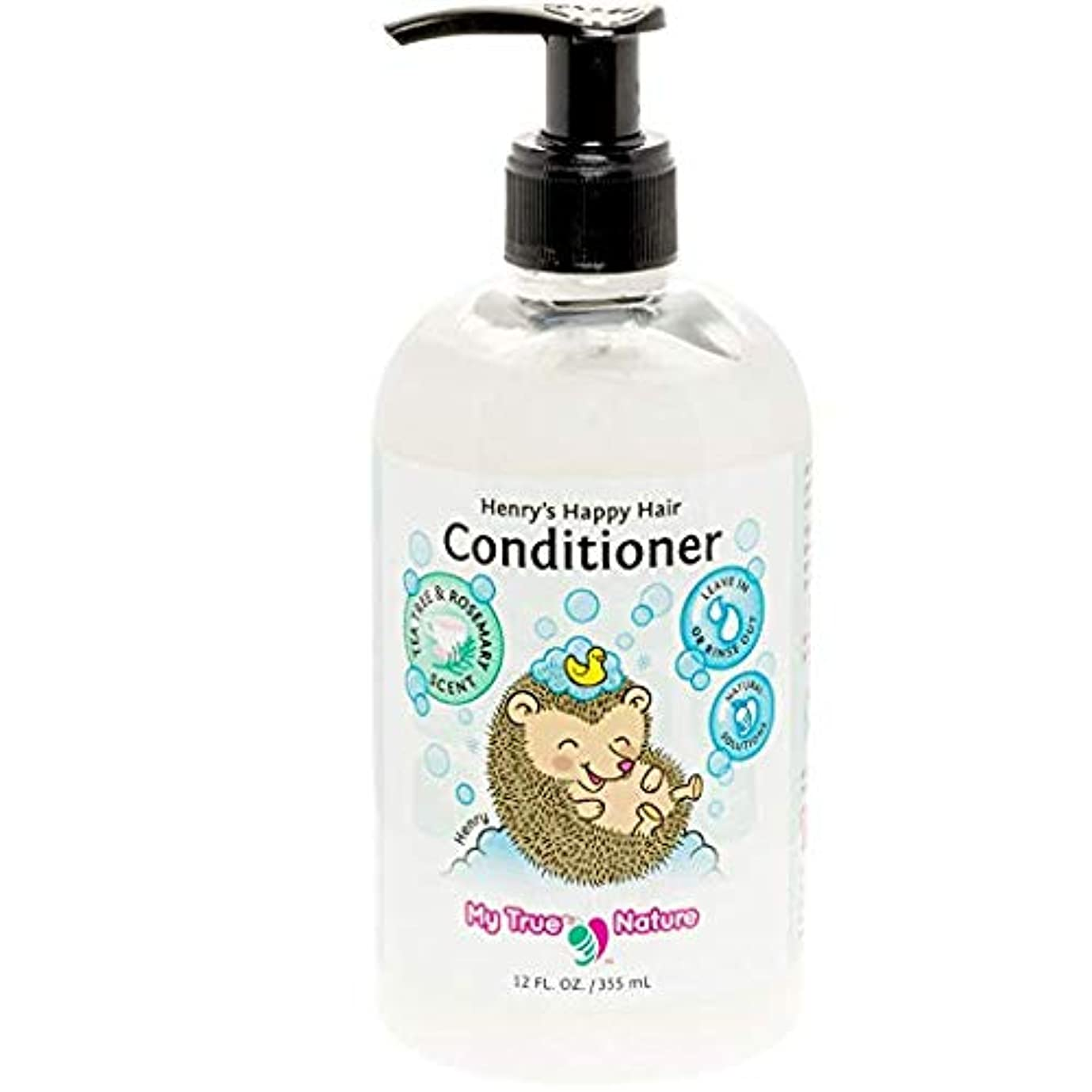 発表する自体節約My True Nature Henry's Happy Hair Conditioner - Rosemary/Tea Tree - 12 oz by My True Nature