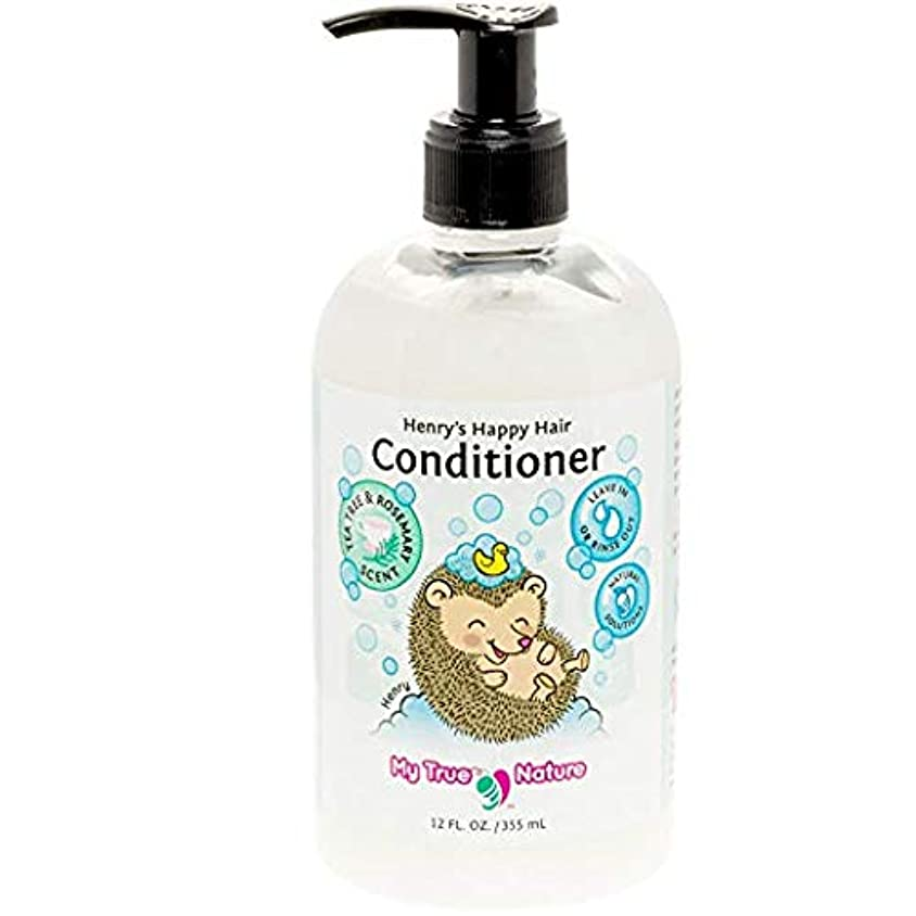 市民権エンドウ飼い慣らすMy True Nature Henry's Happy Hair Conditioner - Rosemary/Tea Tree - 12 oz by My True Nature