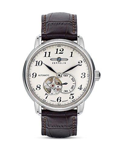 Zeppelin Herren - Armbanduhr Analog Automatik Leder 7666-5
