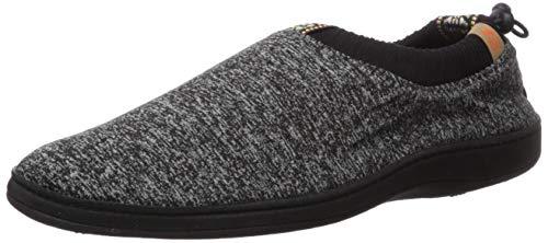Acorn Women's Explorer Shoes Slipper, Black Heather, Large Standard US Width US