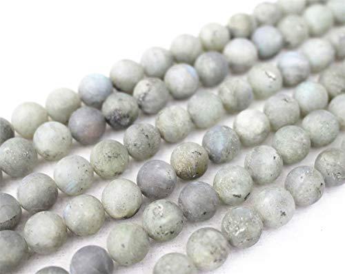 Gros perles labradorite matte naturelle, 4 mm, 6 mm, 8 mm, 10 mm, 12 mm, perles de labradorite lisses et rondes mates. 6mm,63pcs