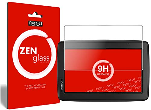 ZenGlass Nandu I Protector de Vidrio Flexible Compatible con Tomtom Start 25 M I Protector de Pantalla 9H