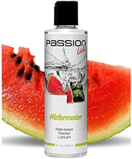 Passion Licks Watermelon Water Based Flavored Lube- 8 oz