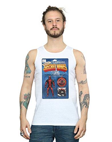 Marvel Hombre Deadpool Secret Wars Action Figure Camiseta Sin Mangas Blanco Medium