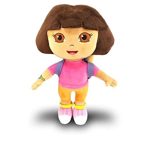 Dora The Explorer Plüsch-Spielzeug Pre-Kindergarten Spielzeug Nette Dora Stiefel Füllt Puppe Partei Dekorationen Hohe Qualität Hyococ (Color : Dora-30cm)