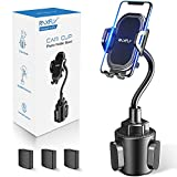 Cup Car Phone Holder for Car - RAXFLY Hands Free Adjustable Long Gooseneck Car Cup Holder Phone Mount Compatible with iPhone 12 Pro Max Samsung Note 20 S20 Plus All Smartphone