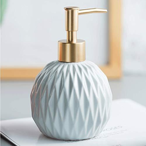 Dispensador de líquido dispensador de jabón de cerámica, para dispensador de loción de encimera de baño, para bomba de jabón, dispensador de loción de 360 ml (color: gris)