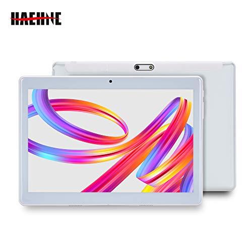Haehne 10.1 Pollici Tablet PC, Google Android 4.4 GSM WCDMA 3G Phablet, Schermo Capacitivo HD 1280*800P, Quad Core 1.3GHz A7 1GB+16GB, Telecamera Doppia 2.0MP+0.3MP, 4500mAh, WiFi, Argento