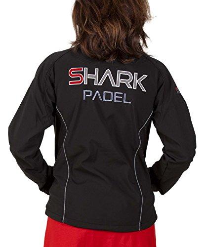 SH2009 Chaqueta Soft Shell Mujer transpirable cortaviento impermeable Shark Padel (negro, XL)