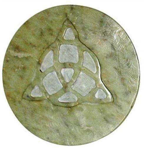 3' Soapstone Triquetra Altar Tile