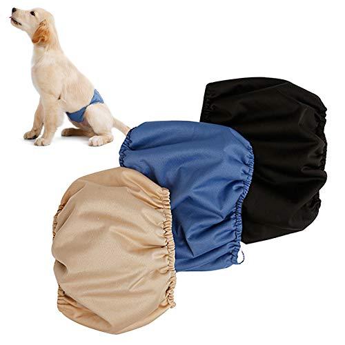 AEITPET Pañales Lavables para Perras Gato, Bragas para Perros, Female Dog Diapers Altamente Absorbentes, Pañales Reutilizables para Perros Perro, Pañales Sanitarios para Mascotas (XL, 3 Piezas)
