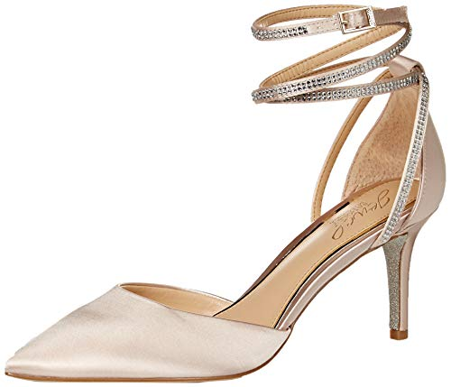 Jewel Badgley Mischka Women's SABRINA Shoe, Champagne, 8 M US