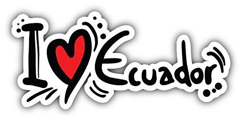 postwalldecor I Love Ecuador Slogan Hochwertigen Auto-Autoaufkleber 15 x 8 cm