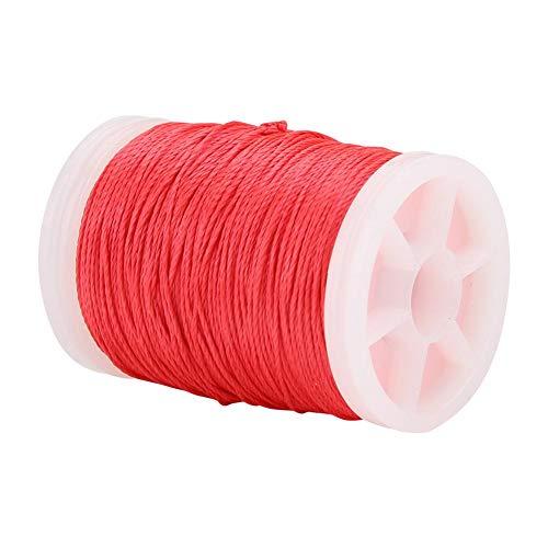Yosoo Bogenschießen-Servierfaden, 120 m Nylon-Saitenfaden Langlebiger Bogenschnur-Servierfaden für Bogensehnen-Bogenschießen-Zubehör(rot)
