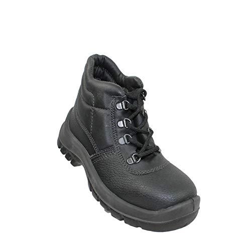 TuF S1 SRC Sicherheitsschuhe Arbeitsschuhe Berufsschuhe Businessschuhe Trekkingschuhe hoch Schwarz, Größe:42 EU
