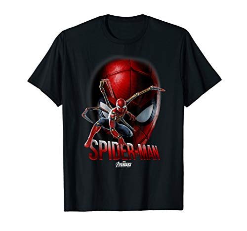 Marvel Infinity War Spider-Man Game Face Graphic T-Shirt