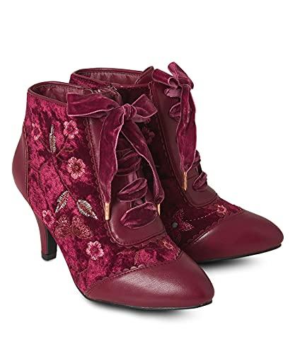 Joe Browns Damen Memories of Venice Ankle Boots Stiefelette, dunkelrot, 39 EU