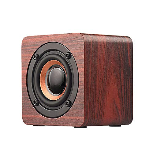 Lovejoy Store Bluetooth Lautsprecher, Q1 Mini Tragbarer Holz Bluetooth Lautsprecher Subwoofer Musik Player Horn für Smartphone Tablet Laptop, Wood Color