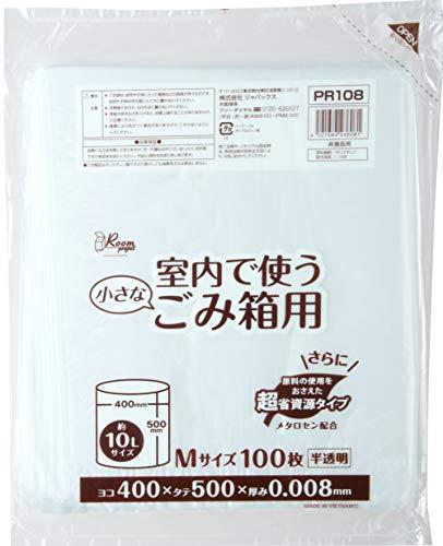ジャパックス ポリ袋 横40×タテ50cm 約10L 半透明 100枚入り 室内ごみ箱用 ゴミ袋 超資源タイプサイズ:横40×タテ50cmPR-108