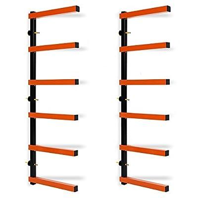 HECASA Wall-Mounted Lumber Storage Rack 6 Level 600Lb