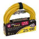 Shop Utilitech Pro 25-ft 15-Amp 120-Volt 1-Outlet 12-Gauge Yellow Outdoor Contractor Extension Cord at Lowes.com