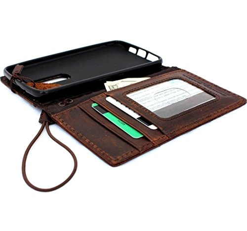 Genuine Leather Hard Case Nokia Lumia 1520 Flip Cover Wallet Book Handmade Hard Stand Id
