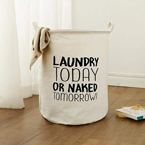 FBXYL Wasmand van katoen, 40 x 50 cm, voor het organiseren van vuil en voorwerpen voor het opbergen van speelgoed, opvouwbaar, waterdicht