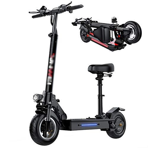 GJZhuan Monopattino Elettrico Electric Scooter Pieghevole, E Scooter Elettrico Adulti, velocità Fino A 45km/h, Motore 500W, Adatto Ad Adulti E Adolescenti (Size : 48V18AH)