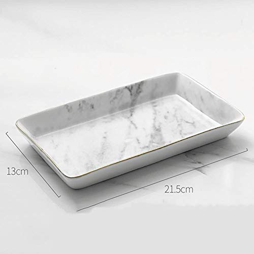 European-style tableware, ceramic marble, Phnom Penh decorative jewelry, perfume tableware, storage ring storage slot decorative jewelry tray