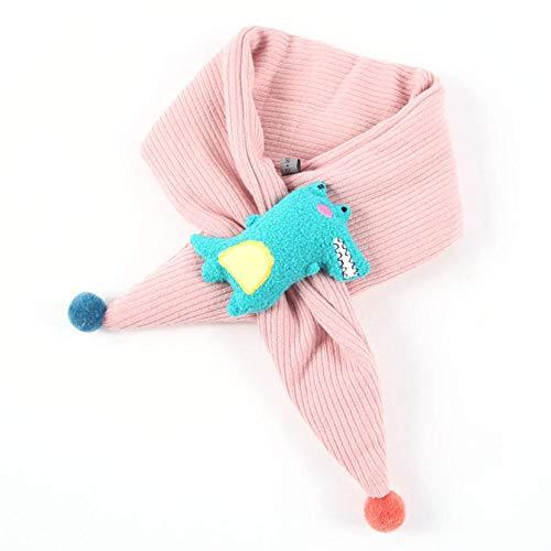 Dream-cool Christmas Sciarpa Bambini Inverno Caldo Maschio e Femmina Baby Cartoon Croce per Bambini Sciarpe Come Regalo di Natale e Ornamenti in Maglia di Cotone Sciarpa Rosa
