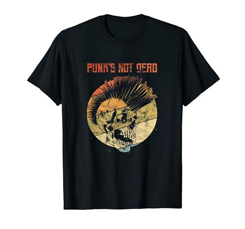 Herren Punk's Not Dead Punk Rock Punker T-Shirt