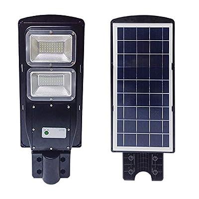 TAIMIKO Solar Street Light,Parking Lot Lights 20000mAH Iron Phosphate Battery LED Street Light, Wireless-Waterproof IP65-Light/PIR Motion Sensor for Garage,Patio,Garden,Driveway (40W)