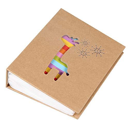 Cheerlife Klein Fotoalbum Einsteckalbum für 100 Fotos im Format 11,5 x 16,5 cm Memoalbum Baby Kinder Geburtstag Weihnachten Geschenk (Hirsch)