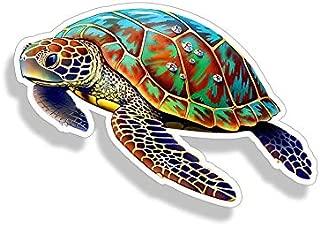 Sea Turtle Sticker Full Color Car Window Bumper Decal Custom Printed Ocean Beach Sea Animal Life Graphic
