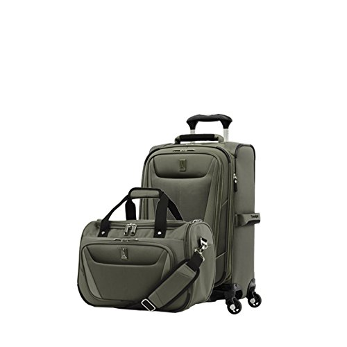 Travelpro Luggage Maxlite 5 | 2-Piece Set | Soft Tote and 21-Inch Spinner (Slate Green)