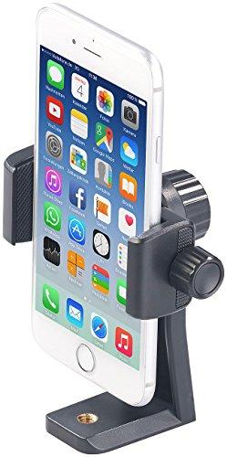 PEARL Handy Halter Stativ: Universelle Smartphone-Stativ-Halterung mit 1/4